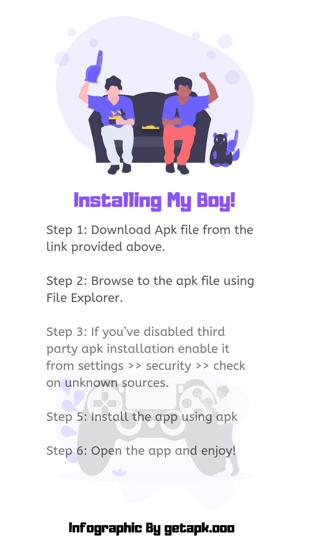 installing my boy infographic